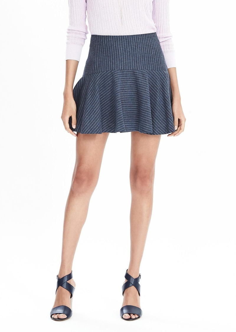 Banana Republic Ruffle Pinstripe Skirt
