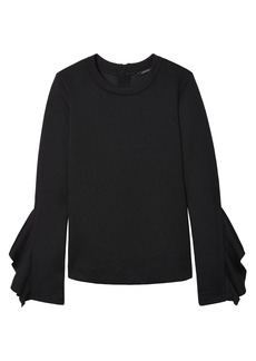 Ruffle-Sleeve Couture Sweatshirt