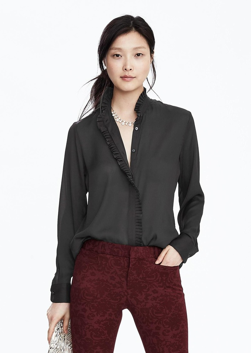 Banana Republic Ruffle Trim Blouse