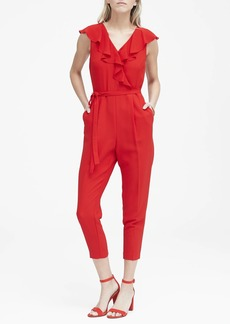 Banana Republic Ruffle V-Neck Jumpsuit