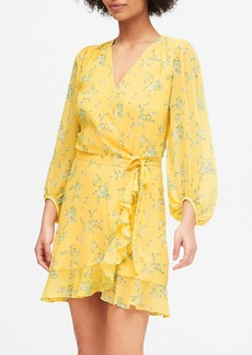 Banana Republic Ruffle-Wrap Dress