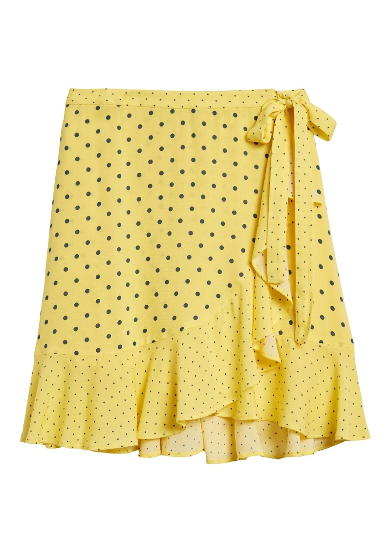 Banana Republic Ruffle Wrap Mini Skirt