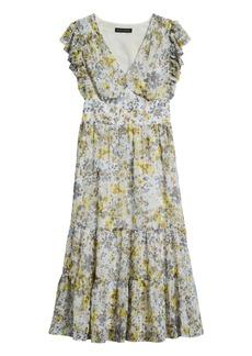 Banana Republic Ruffled Midi Dress