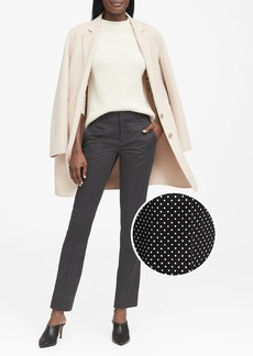 Banana Republic Ryan Slim Straight-Fit Polka Dot Pant