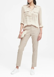 Banana Republic Ryan Slim Straight-Fit Stretch Linen-Cotton Pant