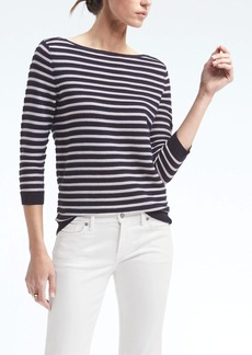 Banana Republic Sailor Stripe Boat-Neck Pullover