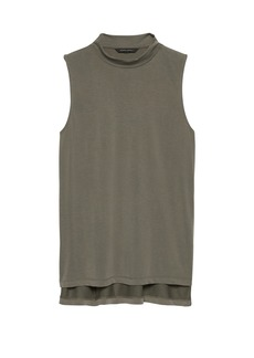 Banana Republic Sandwash Modal Blend Mock-Neck Top