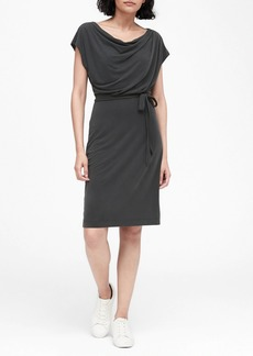 Banana Republic Sandwash Modal Cowl-Neck Dress