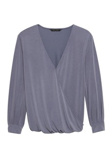 Banana Republic Sandwash Modal Wrap-Front Top