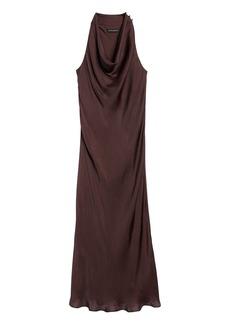 Banana Republic Satin Cowl-Neck Slip Dress