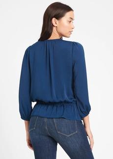Banana Republic Satin Peplum Top