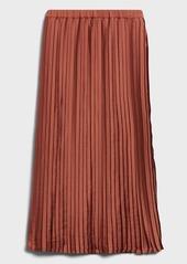 Banana Republic Satin Pleated Midi Skirt