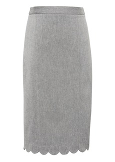 Banana Republic Scalloped Bi-Stretch Pencil Skirt