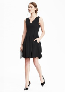Scalloped Pocket Dress