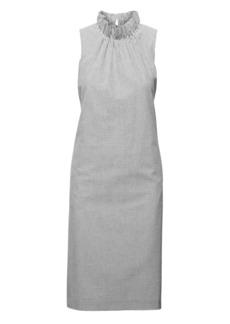 Banana Republic Seersucker Ruffle-Neck Dress