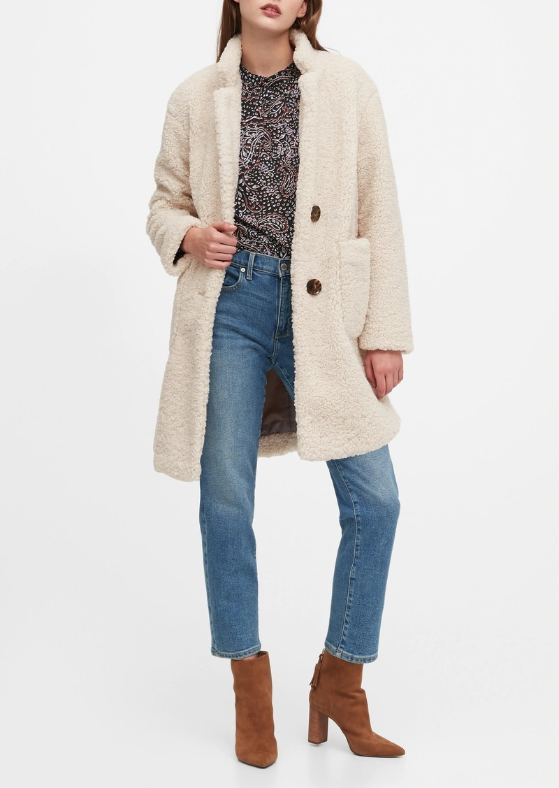 Banana Republic Sherpa Cocoon Coat