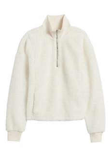 Banana Republic Sherpa Fleece Half-Zip Sweatshirt