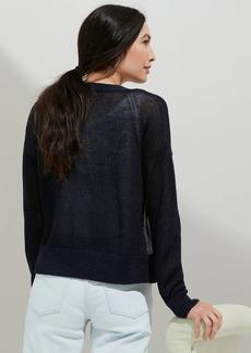 Banana Republic Shimmer Linen-Blend Cardigan Sweater