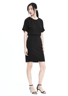 Short Sleeve Drape Back Dress