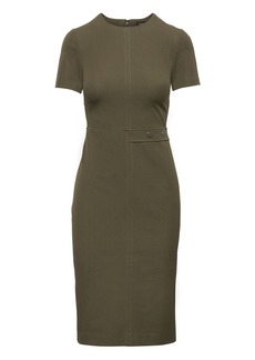 Banana Republic Side-Button Bi-Stretch Sheath Dress