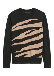 Banana Republic Silk Cashmere Relaxed Zebra Sweater