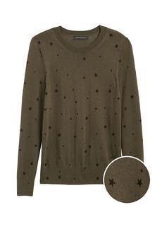 Banana Republic Silk Cashmere Star Sweater