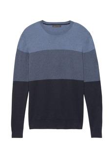 Banana Republic Silk Cotton Cashmere Block-Stripe Sweater