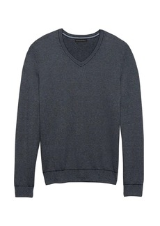 Banana Republic Silk Cotton Cashmere V-Neck Birdseye Sweater