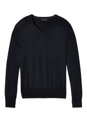 Banana Republic Silk-Cotton Cashmere V-Neck Sweater