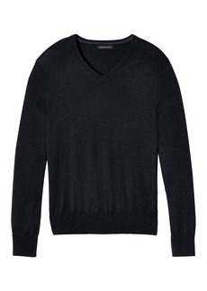 Banana Republic Silk-Cotton Cashmere V-Neck Sweater