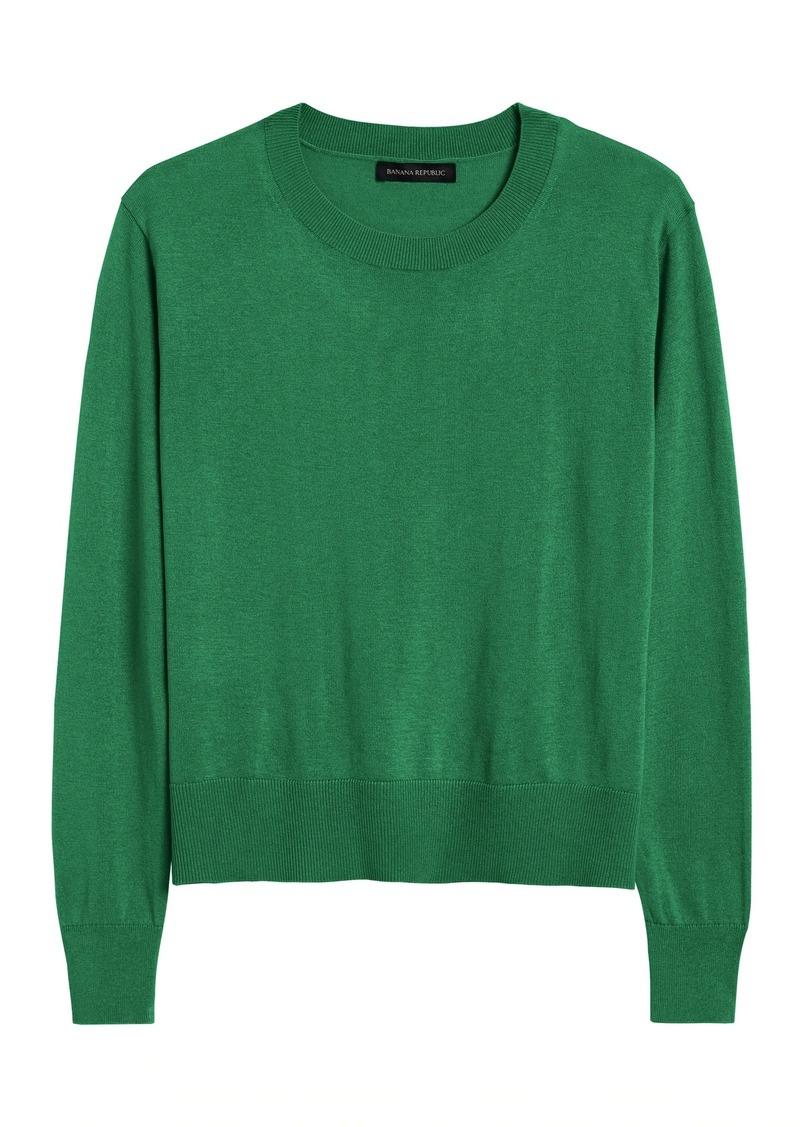 Banana Republic Silk-Cotton Cropped Sweater