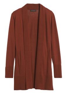 Banana Republic Silk Cotton Long Cardigan Sweater
