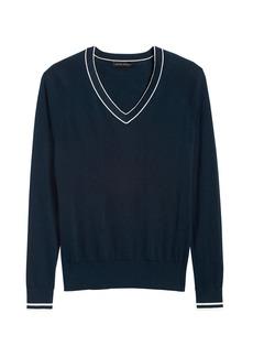Banana Republic Silk Cotton V-Neck Sweater