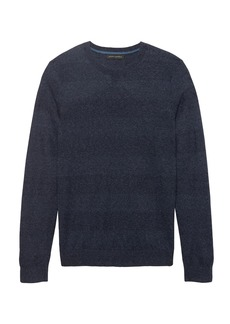 Banana Republic Silk-Linen Texture Crew-Neck Sweater