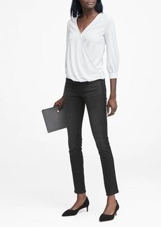 Banana Republic Skinny Black Jean with Velvet Side-Stripe