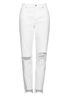 Banana Republic Skinny Stain-Resistant Ankle Jean with Frayed Step-Hem