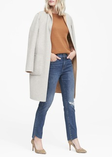 Banana Republic Skinny Zero Gravity Ankle Jean with Asymmetrical Fray Hem