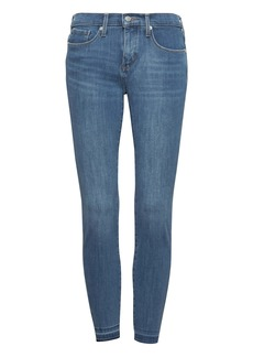 Banana Republic Skinny Zero Gravity Light Wash Ankle Jean with Fray Hem