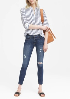 Banana Republic Skinny Zero Gravity Medium Wash Ankle Jean