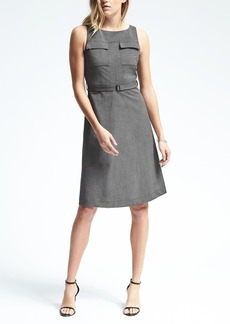 Sleeveless Belted Pocket Dress
