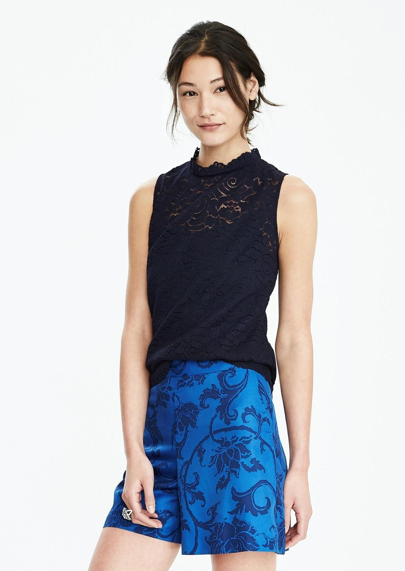 Banana Republic Sleeveless Floral Lace Top