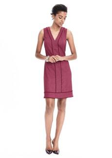 Sleeveless Herringbone Wool-Blend Dress