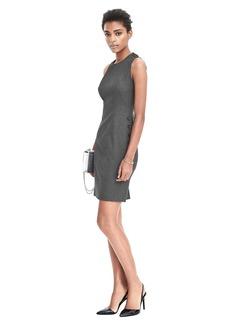 Sleeveless Side Button Sheath Dress