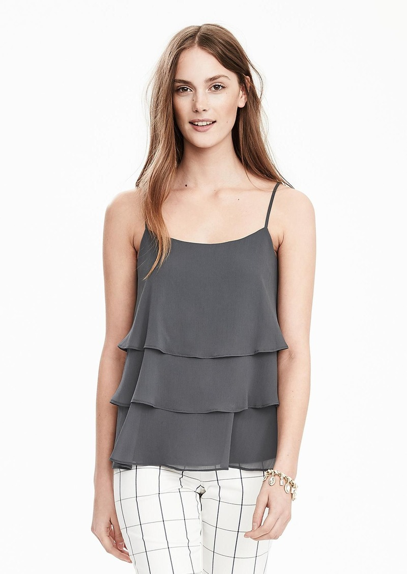 Banana Republic Sleeveless Tiered-Ruffle Top