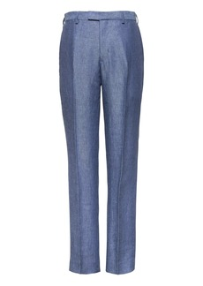 Banana Republic Slim Blue Linen Suit Pant