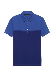 Banana Republic Slim Color-Blocked Pique Polo