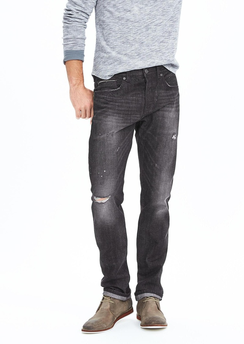 Banana Republic Slim Rugged Wash Kaihara Selvedge Jean