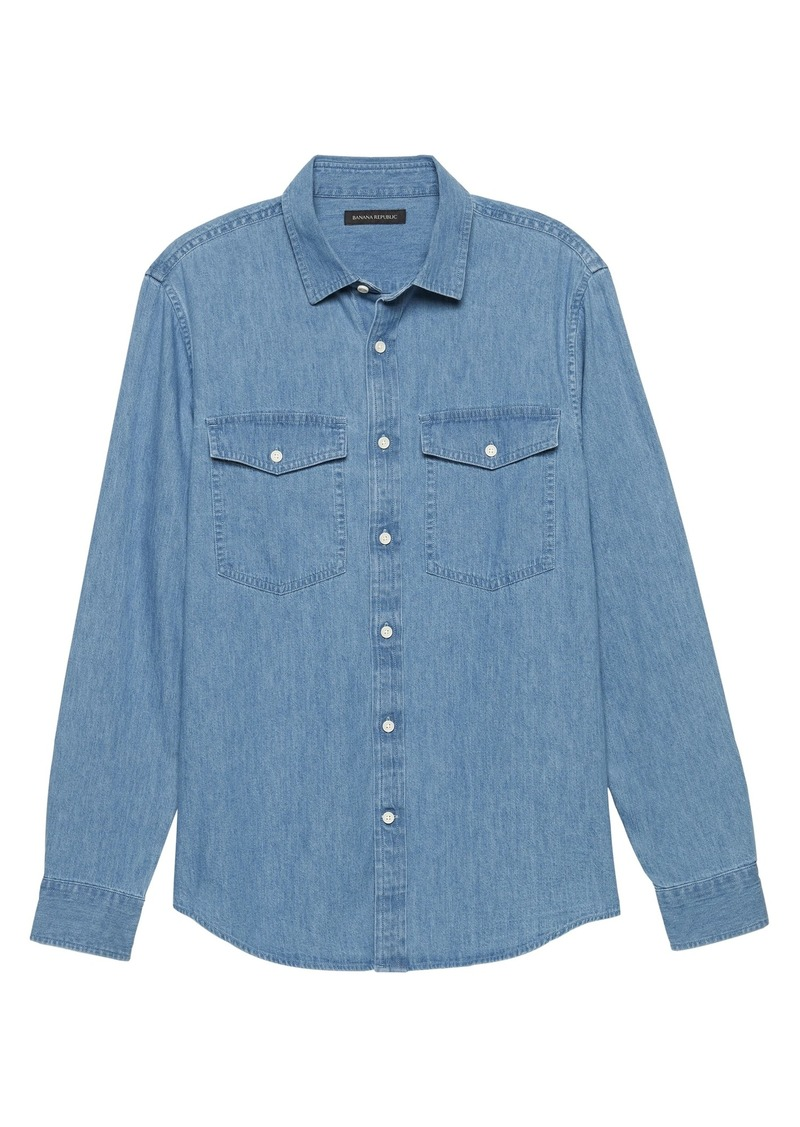 Banana Republic Slim-Fit Chambray Utility Shirt
