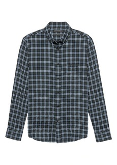 Banana Republic Slim-Fit Crinkle Cotton Flannel Shirt