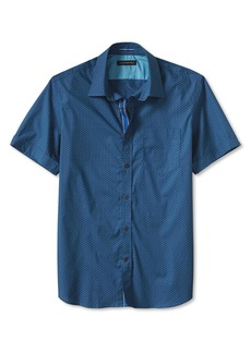 Banana Republic Slim-Fit Double-Dot Short-Sleeve Shirt